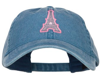 Eiffel Tower Paris Patched Washed Cap