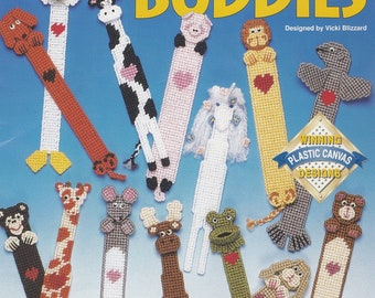 Book Buddies, The Needlecraft Shop Plastic Canvas Animal Bookmarks Pattern Booklet