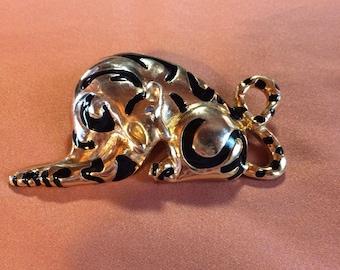 Vintage Gold-Tone Leopard Brooch/Pin
