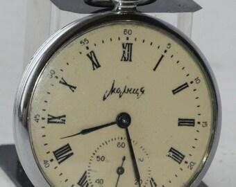 Soviet watch. MOLNIJA. Chk-6.Open Face.Vintage watch.Mechanical watch.Pocket Watch.Collectible.