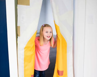 Childrens Doorway Curtain- Enchanted Castle