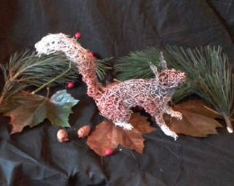 Handmade Red squirrel from wire.
