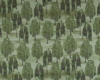 COUNTRY STORE, Windham Fabrics, Patt No 41276, Weeping Willow Trees, Premium Quilting Fabric,