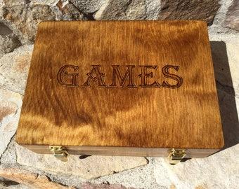 Wooden Customizable Game Box