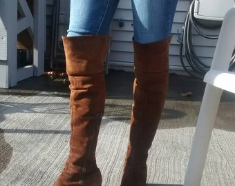 Bootalinos Brown Suede Swashbucklers Boots