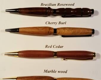 Exotic wood turned pens. Pen Master