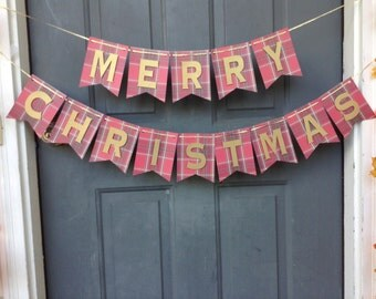 Merry Christmas paper banner