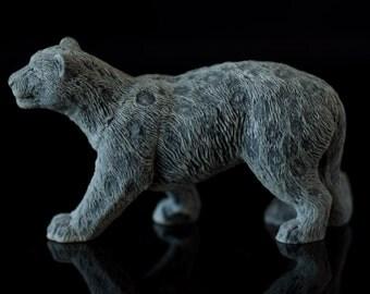 Marble leopard Figurine Animal Russian Art Handmade Statuette For Home Decor leopard animal