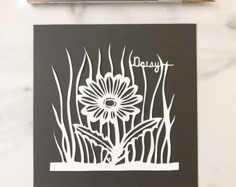 Original Papercut Daisy