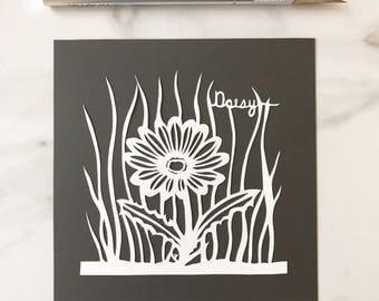 ON SALE Original Papercut Daisy