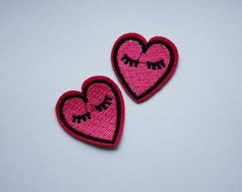 Embroidery Heart Iron on Patch
