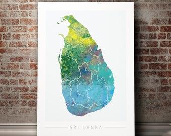 Sri Lanka Map Etsy