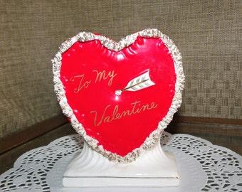 Red Ceramic Heart Etsy
