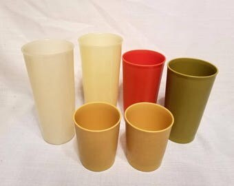 Tupperware Cups, Various Vintage Patterns and Ages