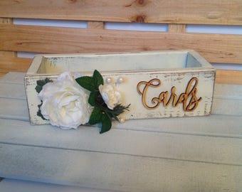 Rustic Card Box, Rustic Wedding Card Box, Wedding Card Box, Floral Decorated Wedding Card Box