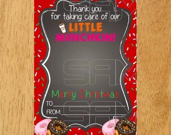 Dunkin Donuts Gift Card Holder Tag Printable, Christmas Printable