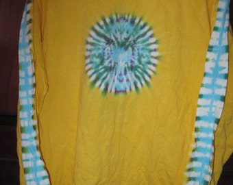 Tie Dye Long Sleeve Cotton T-Shirt M - L 42