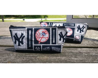 New York Yankees Makeup Bag, Pencil Case or Zipper Pouch, MLB organize bag, Gift for him and her