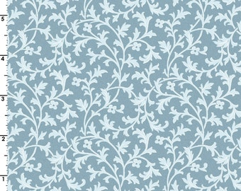 Gentle Breeze - Per Yd - Maywood Studio - Leaves on Lt Blue