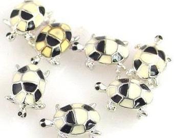 7 turtle 2 hole slider beads 9727-N11