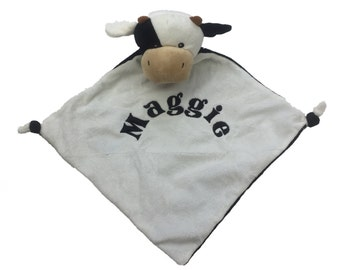 Personalised Cow Baby Comforter