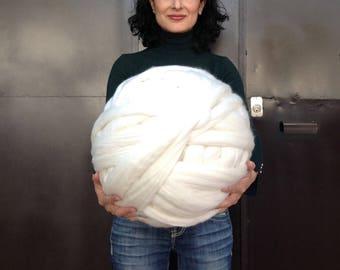 Stamen white merino 1kg
