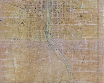 1851 Map of Oswego Oswego County New York