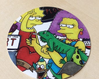 Simpson's 'Woman Power' Mash up Sticker