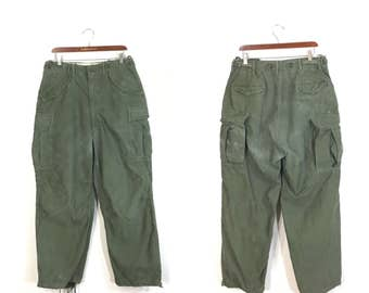 50's vintage M-1951 field cargo pants military 6 pockets