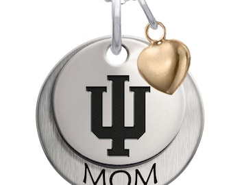 Indiana IU Hoosiers Necklaces and Charms | Sterling Silver | Multiple Styles | Officially Licensed | Indiana University Jewelry