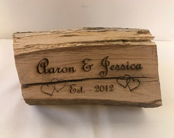 Wishing Log - Personalised - wedding - Anniversary - new home - unique gift - Mothers Day