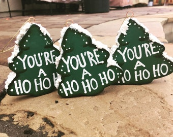Funny Christmas Ornament , Naughty Ornament , Dirty Ornament , Cute Ornament , Christmas Ornament ,  Holiday Ornament , Wood Ornament