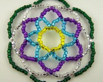 Flower Style Beaded Kippah
