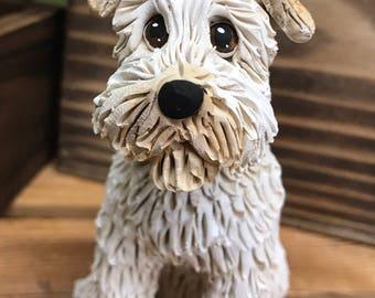 Custom Dog Ornament, Clay9 Mini, Custom Dog Sculpture, Dog Ornament, Dogs, Wheaton Terrier, Terrier, Clay Ornament