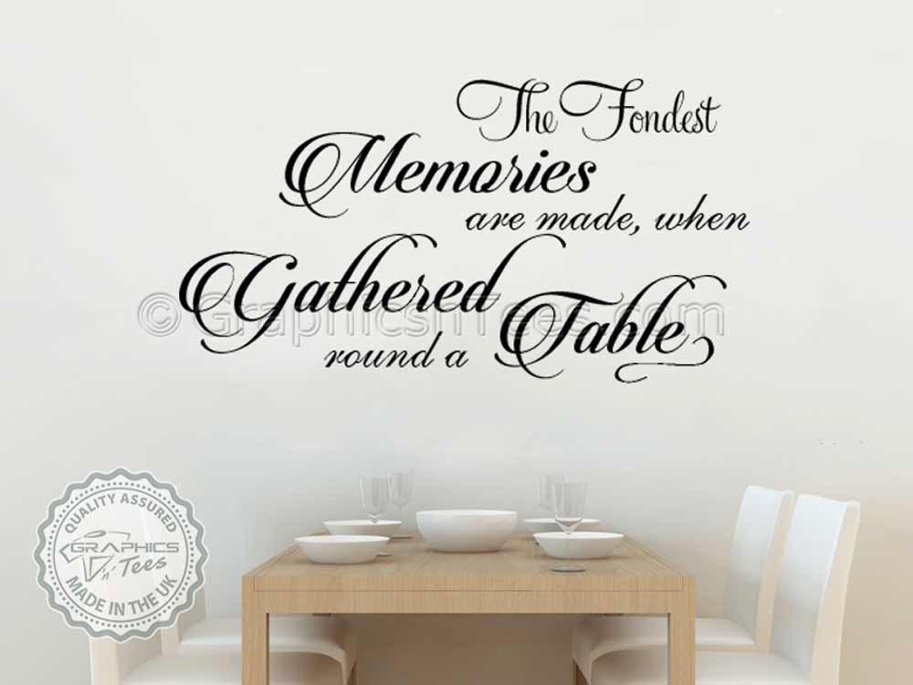 Kitchen wall quote family wall sticker inspirational quote for Dining room quote decals