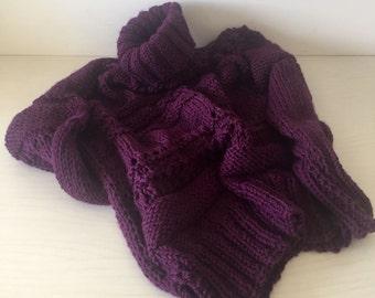 Sweater , Women's Purple Sweater , Chunky Sweater , Oversized women knit Sweater , Slouchy Sweater