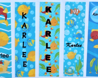 Personalized Children's Fish Bowl Book Marks