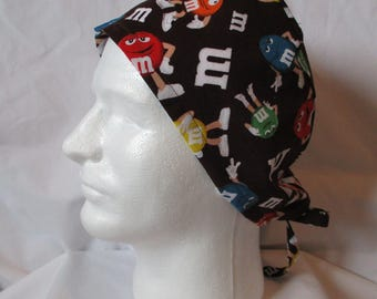 Men's Scrub Cap with M & M characters