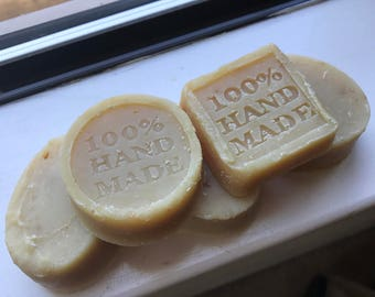 Organic Oatmeal Lemon Soap Bars (CoconutOil Based)