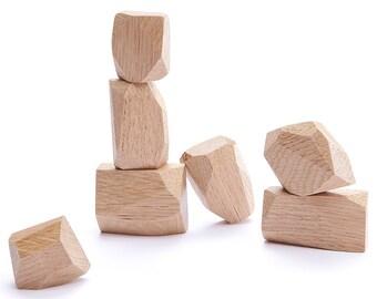 Wooden balancing blocks/ fridge magnets