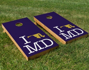 I *HEART* Baltimore Cornhole Board Set with Bean Bags