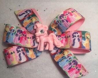 My little pony pinwheel hairbow - Pony bow - Ready to ship!