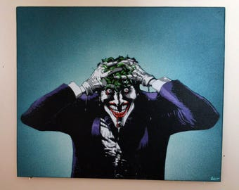 Joker stencil spray paint