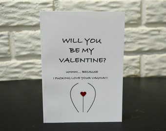 Funny Valentines Day Card, Valentines Day card, Funny Vagina Card, Valentines Cards, Adult Card, Cute Card for Her, Card for her, Wife card