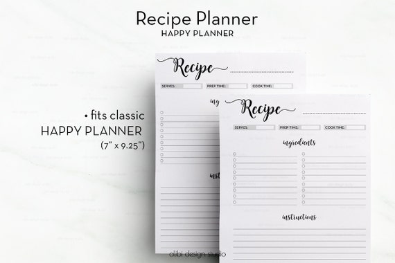 Influential image inside happy planner recipe printable