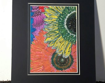 Colorful Sunflower Painting