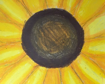 Sunflower-oil pastel on paper