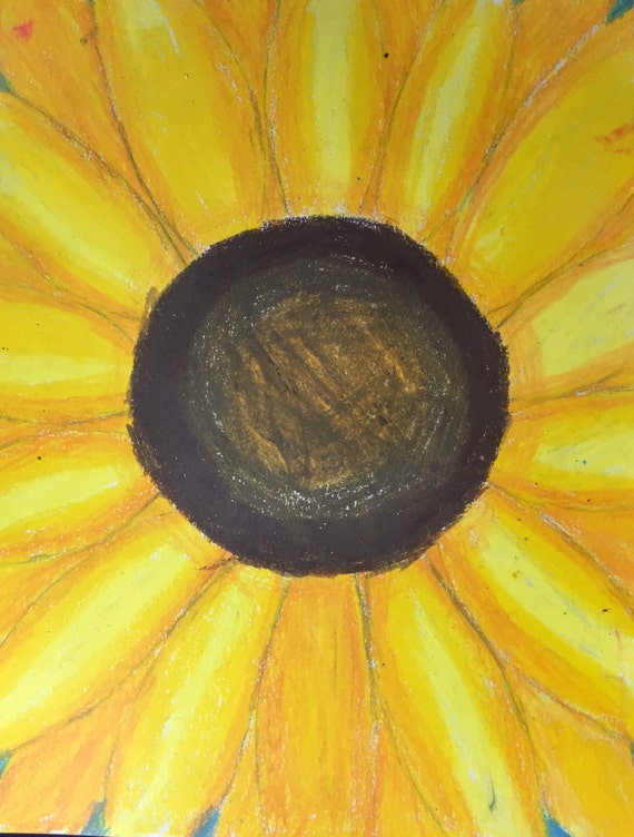 sunfloweroil pastel on paper