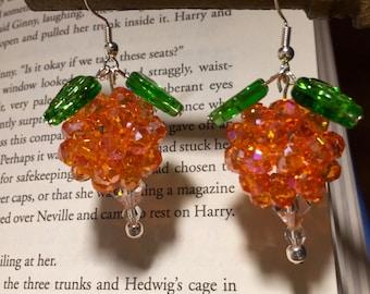 Dirigible Plum Earrings **Book Edition Color(Orange)**- Luna Lovegood inspired
