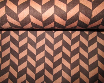 motif cotton fabrics style chevron Brown and dark beige background cotton fabric sold in half yard
